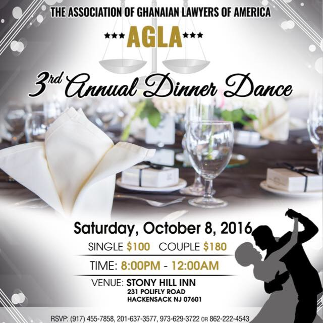 Annual Agla Dinner  Association Of Ghanaian Lawyers Of America