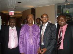 Edward Osei, Hon. Alhaji Mahama Iddrisu (Member of Council of State-Ghana), Desmond Dawuni, and Ramseyer Awuku