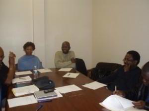 Ms. Abena Darkeh(Vice President), Mr. Arthur Wemegah, and Professor Essien