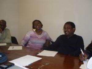 Jennifer Opoku-Asare(Treasurer) and Professor Essien